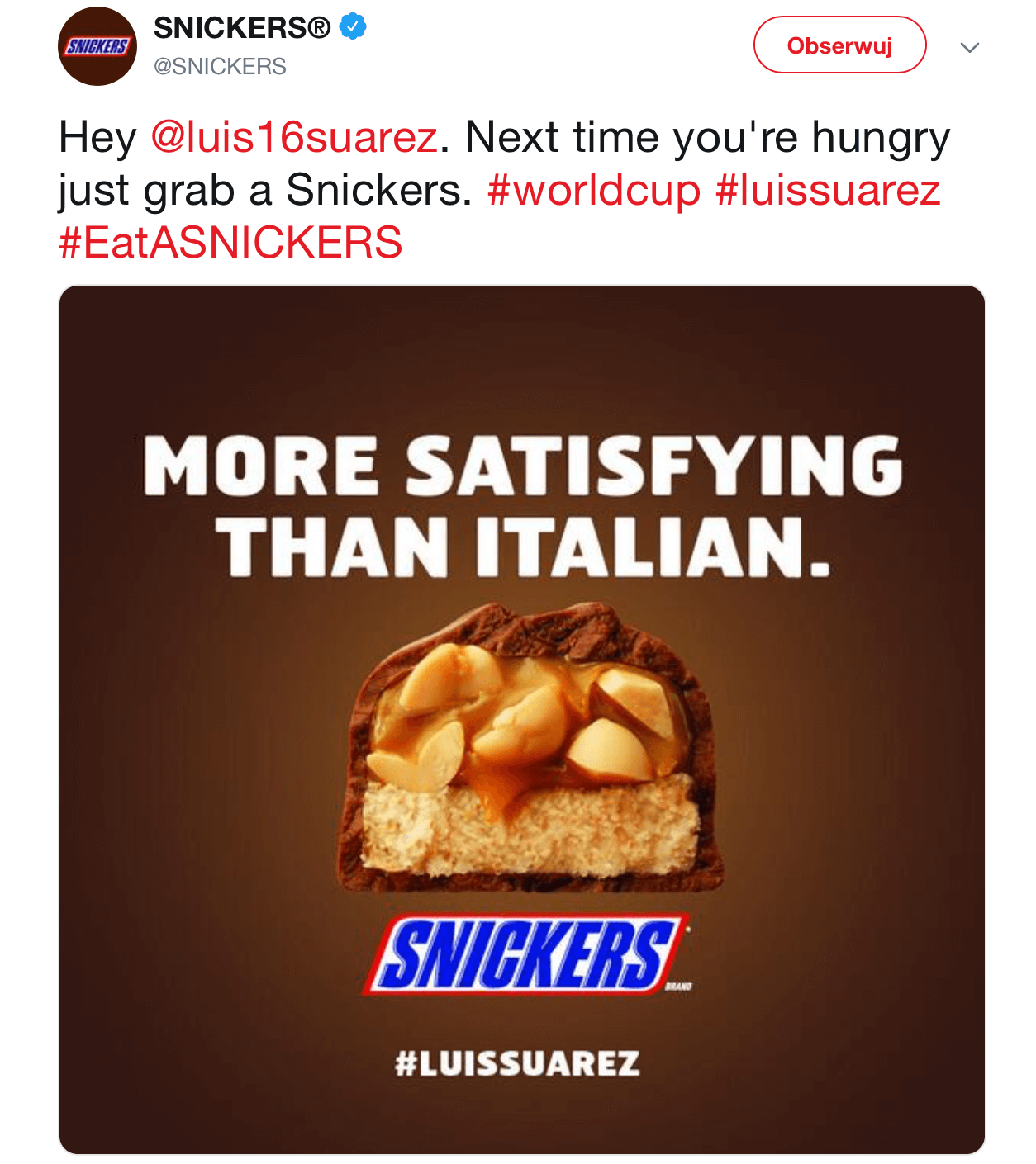 Real Time Marketing - Snickers